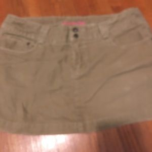Tan American Eagle Corduroy short skirt.